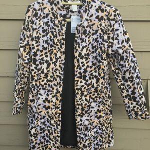H&M Cheetah Print Woven Cotton Jacket